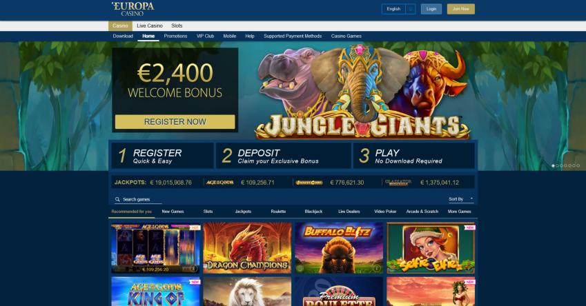 Europa Casino Review Lucky Tips